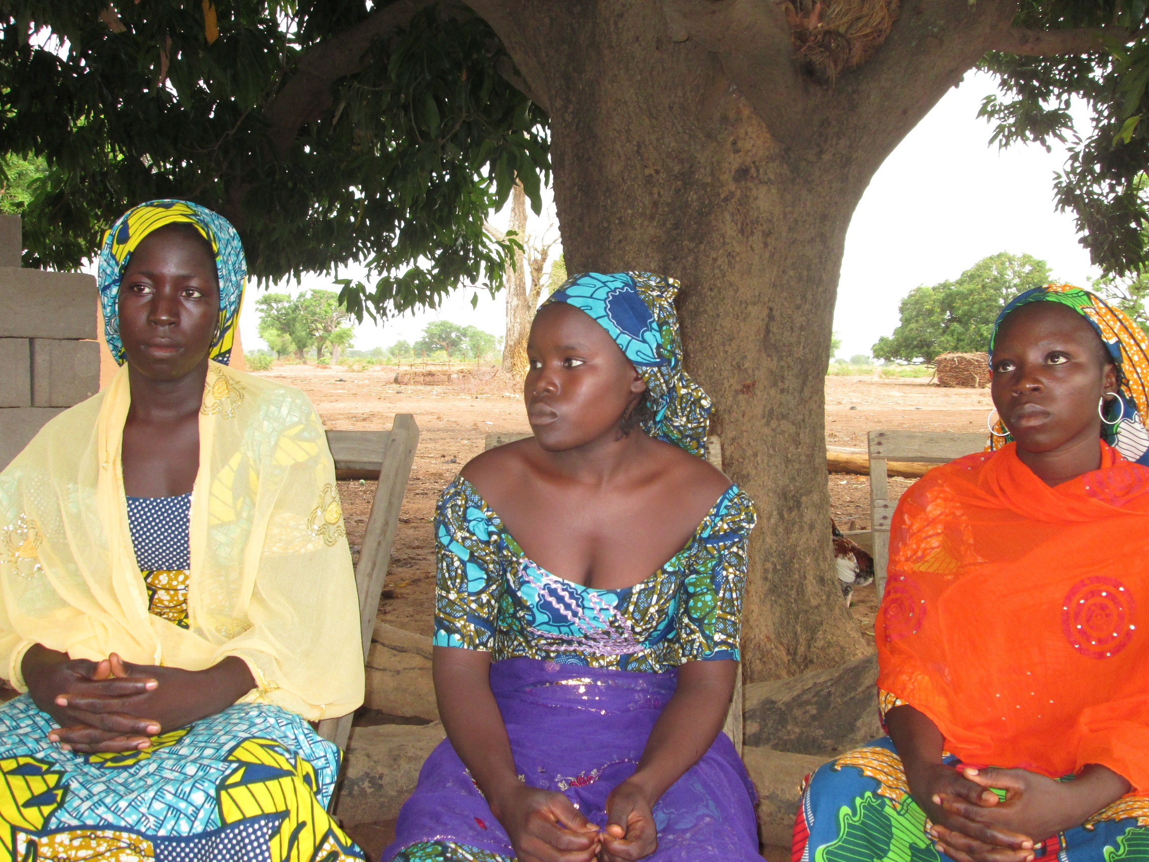 None of Comfort, Rahab and Rejoice (L-R) will ever return to school in Chibok