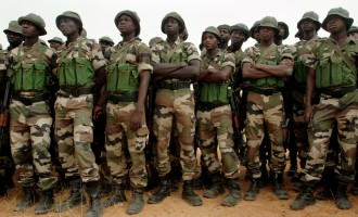 Nigerian soldiers posted to Cameroon border
