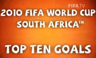 Top 10 goals of FIFA 2010 WorldCup