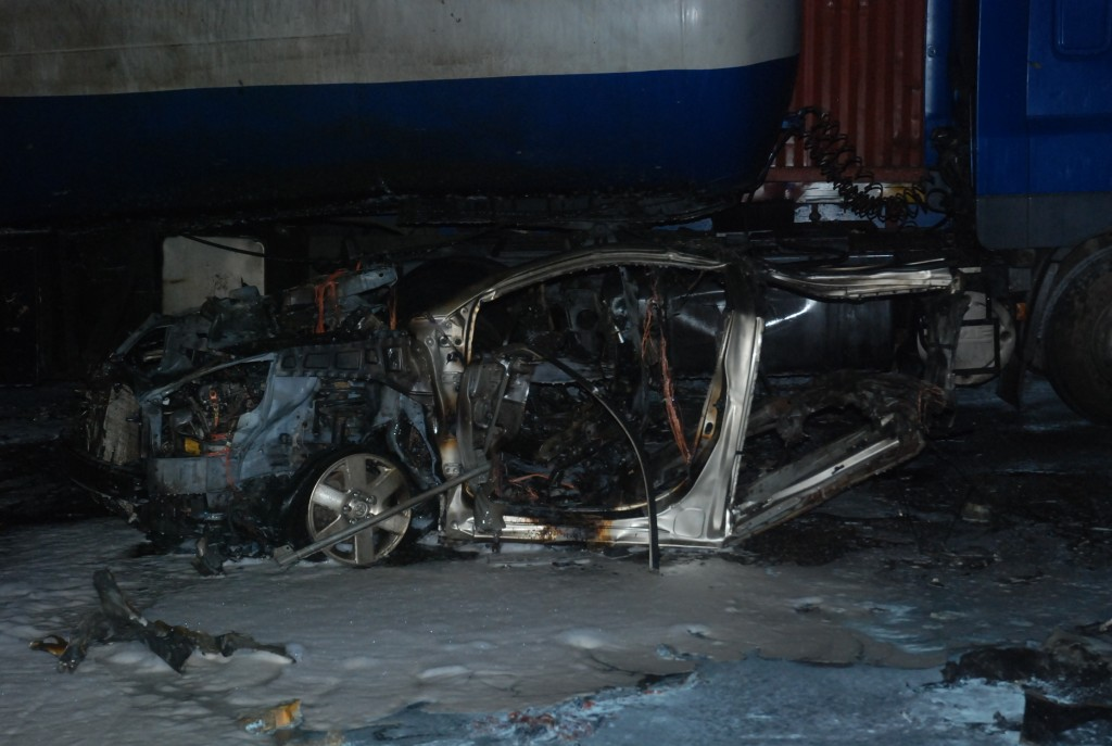 The blast scene at Apapa