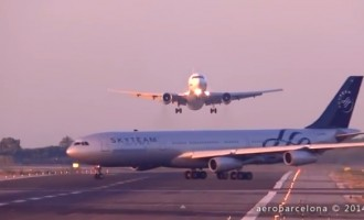Near collision in Barcelona airport
