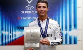 Ronaldo scores twice as Madrid win super cup