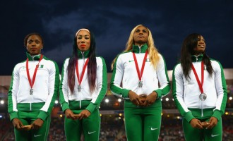 It's silver in women's 4×400, 4×100 relays