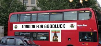 Mystery over 'London for Goodluck' bus in UK
