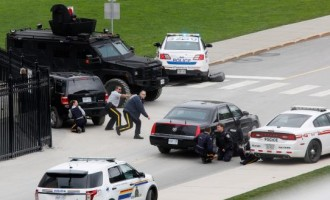 One killed in multiple shootings at Canadian parliament