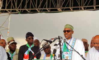 APC 'big boys' flood Buhari's declaration