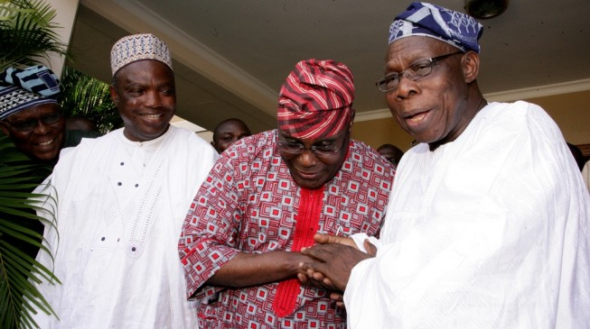 Tinubu, Atiku in separate meetings with Obasanjo
