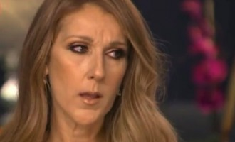 Celine Dion weeps on TV while discussing husband's cancer