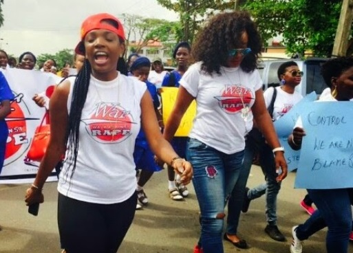 Ini Edo, Annie Macaulay walk against rape