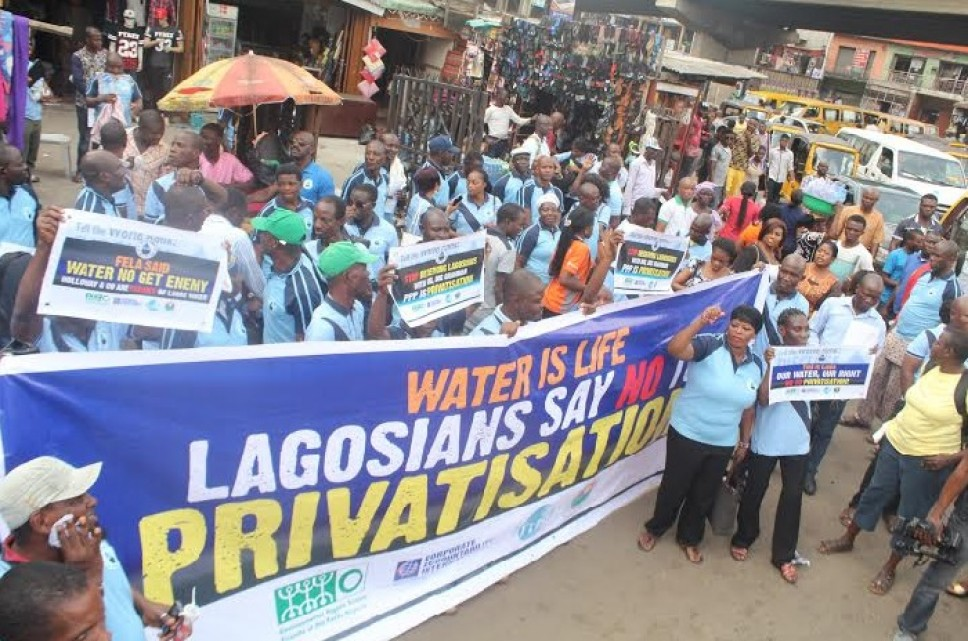 Lagosians protest against privatisation of water