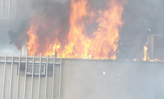 Fire guts NDIC building in Lagos