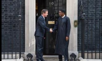 'Resting' Buhari meets Cameron in London