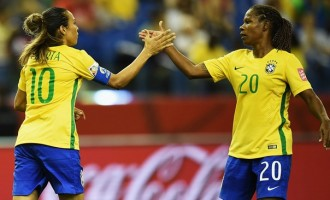 Formiga, Marta break records in Brazil's win
