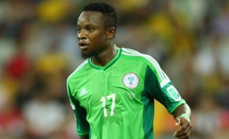 NFF fines Onazi $5,000 for Chad red card