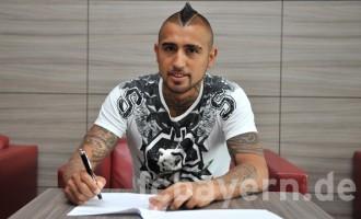 Vidal completes Bayern Munich switch