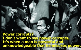 Death is a beautiful thing, don't fear it and other quotes from Fela