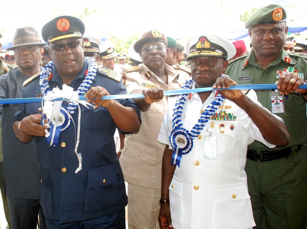 PIC.10. INAUGURATION OF  SENIOR OFFICERS' ACCOMMODATION COMPLEX  IN ABUJA