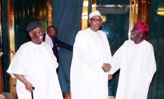 Tinubu meets Buhari at presidential villa