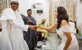I'm not shy around women, says Buhari