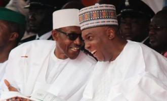 Buhari, Saraki 'reunite' at presidential villa