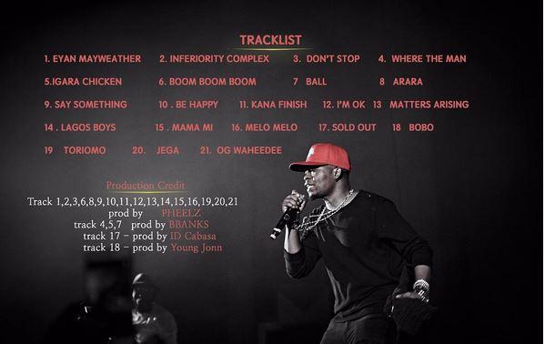 The album tracklist