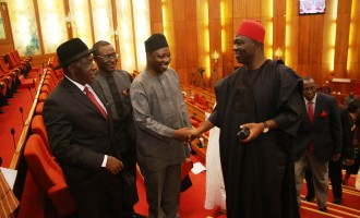 Ekweremadu leads PDP senators to Aso Rock