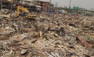 Like Fashola, Ambode demolishes market in Oshodi
