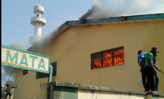 Jos central mosque records fire outbreak