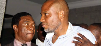 Fayose joins Nnamdi Kanu at Abuja court