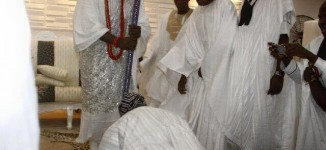 OBSERVED: Obasanjo prostrates before Ooni