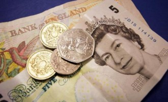 Pound trying to maintain steady after steep decline