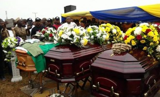 Tears as remains of Ocholi, wife, son are buried