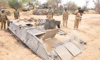 After 8 months, army recovers its armoured tank from B'Haram