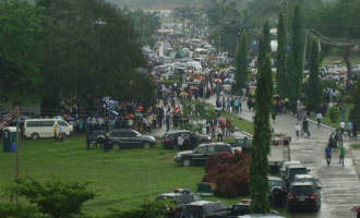 UNIPORT students on the rampage just before exams