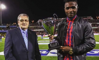 'This is for you mum': Success dedicates POTY award