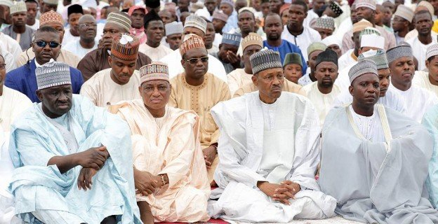 Buhari, Lai at eid praying ground in Abuja