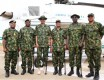 Buhari dressed in full military regalia in Zamfara