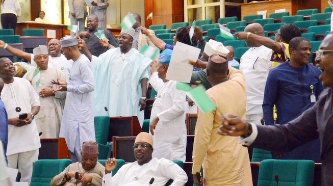 House of reps in rowdy session as south-east lawmakers protest