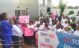 Tinubu's women supporters take anti-Melaye protest to Ambode's office