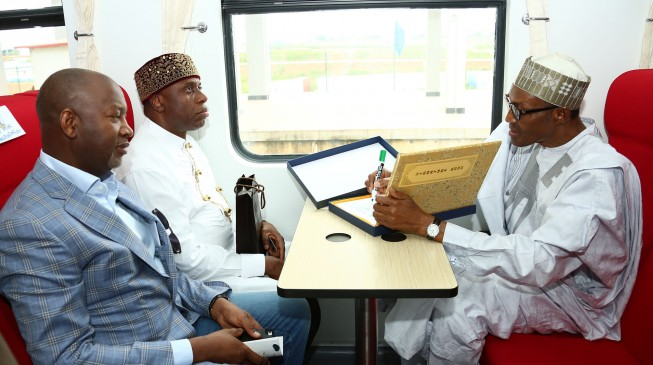 Amaechi: Buhari sleeps and wakes up thinking about our railway