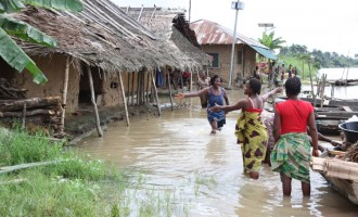Flood takes over major road in Jonathan's hometown