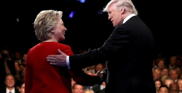 They're friends, after all… Clinton, Trump at presidential debate