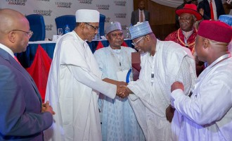 Jonathan absent but Buhari, Jega attend Leadership awards