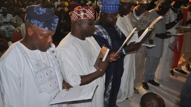 Amosun swears in 57 LG chairmen
