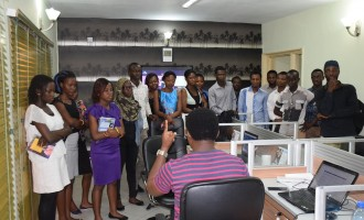 UI Arts students visit TheCable, say 'we want to be better campus journalists'