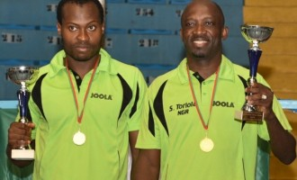 ITTF 2016: Toriola, Quadri win men's doubles title — Nigeria's first gold medal