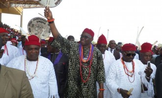 PHOTOS: All hail Chief Fayose, friend of the Igbo