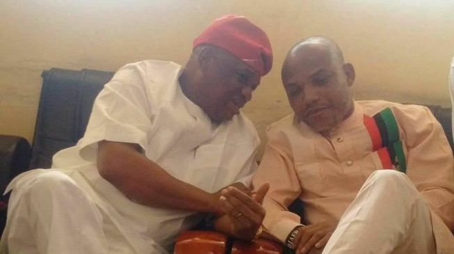 Orji Kalu visits Nnamdi Kanu, says 'Kuje prison not his home'