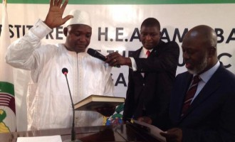 Barrow sworn in as president of The Gambia