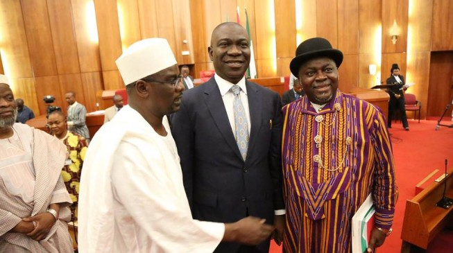 Ndume accepts Lawan as senate leader, says 'it may be Ekweremadu tomorrow'